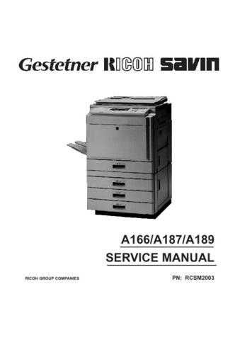Hitachi A166-A187-A189 Service Manual by download Mauritron #263304