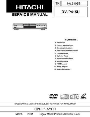 Hitachi TK-9103E Service Manual by download Mauritron #264546