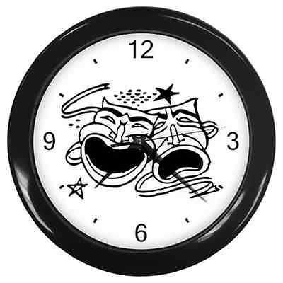Theater Comedy Tragedy Masks Drama Actor Wall Clock