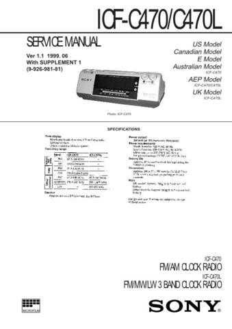 SONY ICF-M33RDS Technical by download #105000