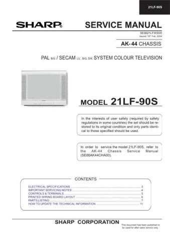 Sharp 21LF90S (1) Service Manual by download Mauritron #207467