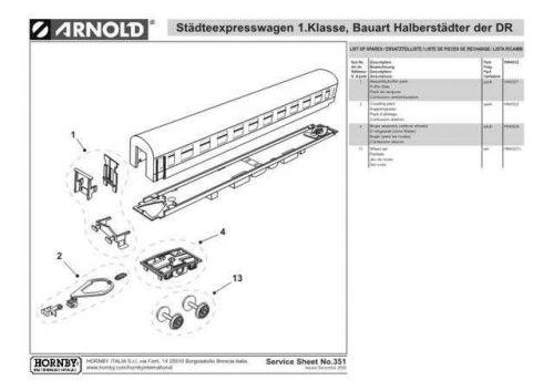 Arnold No.351 Stadteexpresswagen 1 Klasse Bauart Halberstadter der DR HN4032 Inf