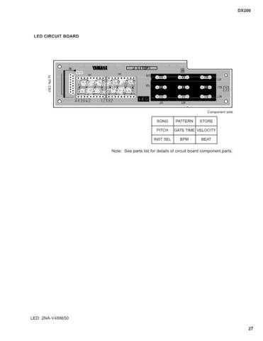 Yamaha DX200LED Manual by download Mauritron #256373