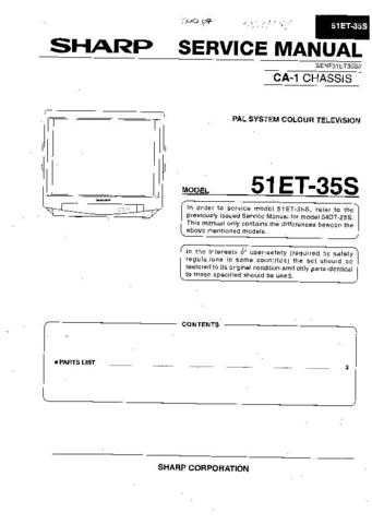 Sharp 51ET35S Service Manual by download Mauritron #207827