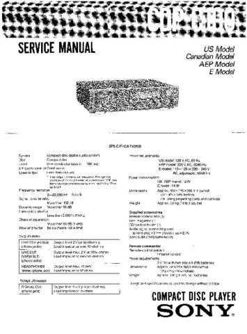 Sony CDP-991 Service Manual by download Mauritron #237250