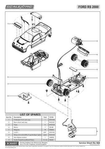 Scalextrix No.468 Ford RS 2000 Service Sheets by download Mauritron #206649