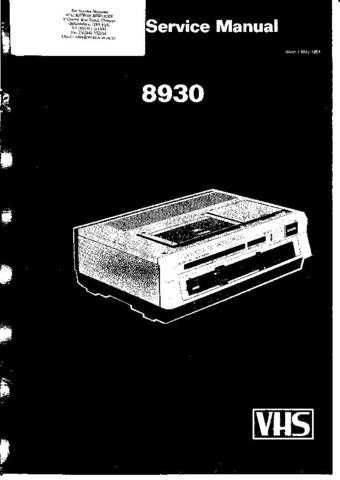 FERGUSON 3V30 SAME AS 8930 SERVICE MANUAL Manual Manual by download Mauritron #