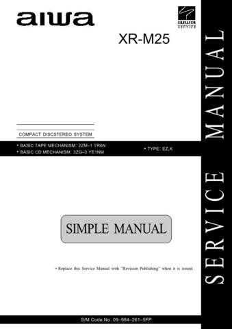 AIWA 09-984-261-5FP Service Informat by download #107412