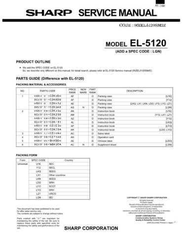 Sharp EL-327S Technical Information by download Mauritron #232857