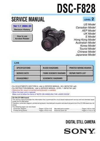 Sony DSC-M1[4] Service Manual by download Mauritron #240195