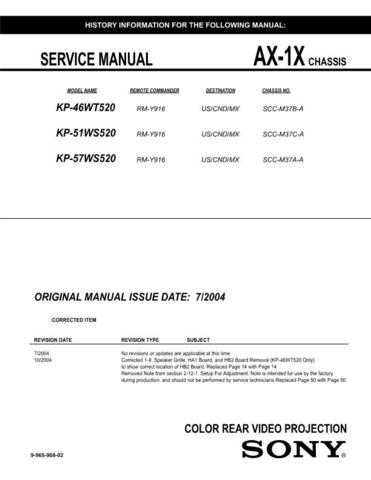 Sony AX1 Service Manual by download Mauritron #236792