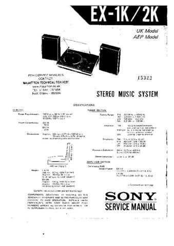 SONY FE-1-1 Technical by download #104923