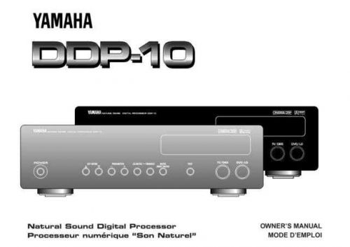 Yamaha DDP-10 Operating Guide by download Mauritron #247384