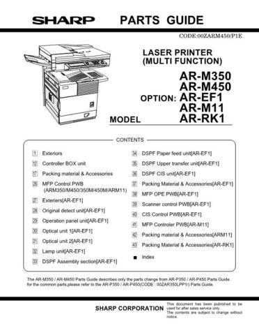 Sharp ARRK2 Parts Guide by download Mauritron #232747