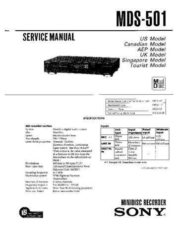 Sony MDS-B1-B2P Service Manual. by download Mauritron #242654