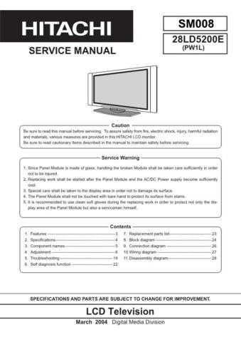 Hitachi 008E Manual by download Mauritron #224939