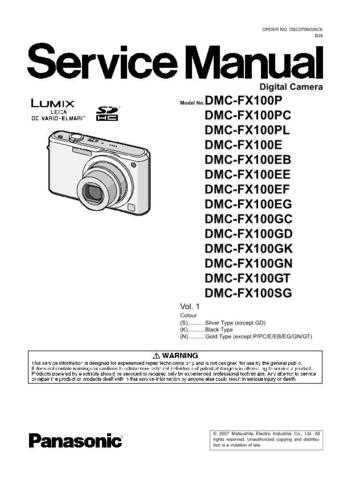 Panasonic DMC-FX33PC Service Manual with Schematics by download Mauritron #266679