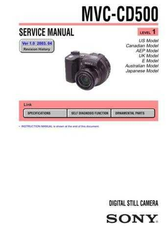 Sony MVC-CD500-2 Service Manual. by download Mauritron #242992