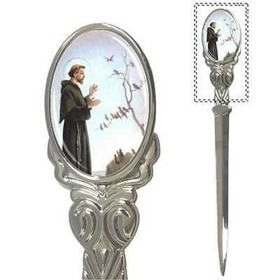 St Francis Of Assisi Patron Saint Of Animals Art Letter Opener