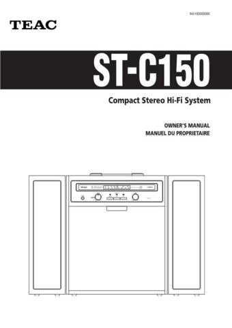 Teac ST-C150(EF) Service Manual by download Mauritron #223942