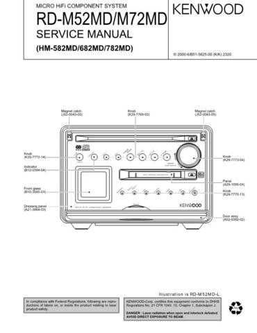 KENWOOD RDM52 RDM72 Technical Information by download #118803