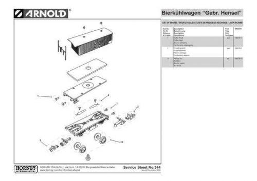 Arnold No.344 Bierkuhlwagen Gebr Hensel HN6076 Information by download Mauritro