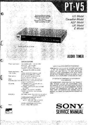 Sony PTV5 Technical Info by download #104834