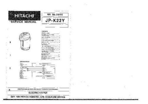 Hitachi No 099E Manual by download Mauritron #225341