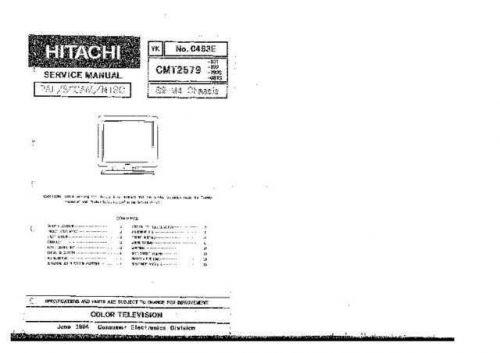 HITACHI No_0463E Service Info by download #108687