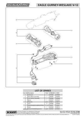 Scalextrix No.428B Eagle Gurney Westlake V12 Service Sheets by download Mauritr