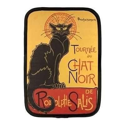 Chat Noir Black Cat Art Neoprene 10 Inch Netbook Case