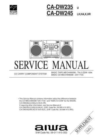 AIWA 09-011-410-3S3 Technical I by download #105397