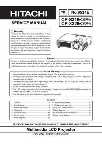 Hitachi CPS18 Service Manual by download Mauritron #207260