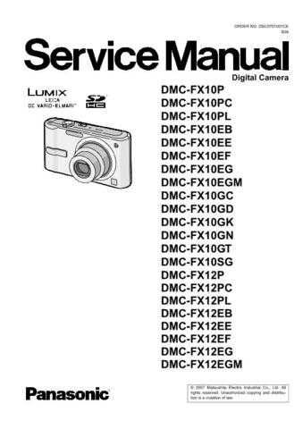 Panasonic DMC-FX3EF Service Manual with Schematics by download Mauritron #266698