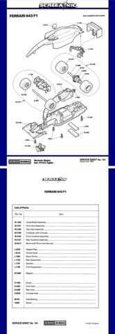 Scalextrix No.161 Ferrari 643 F1 Service Sheets by download Mauritron #206345