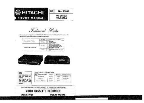 Hitachi TK-2588E Service Manual by download Mauritron #264302