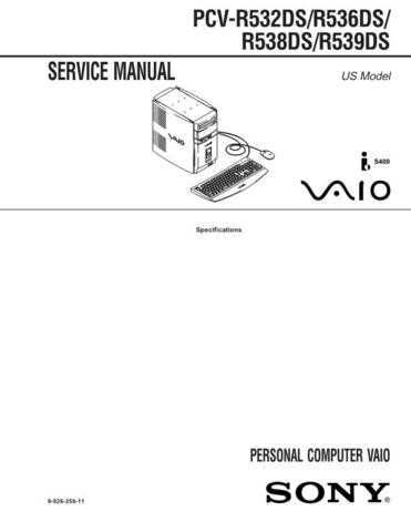 Sony PCV-MXS10 Service Manual. by download Mauritron #243453