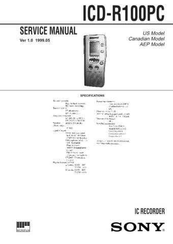 SONY ICF-CD2000 Technical by download #104998