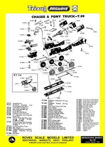 Triang Tri-ang No.035 Chassis and Pony Truck T99 Service Sheets by download Mau
