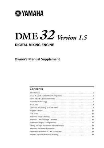 Yamaha DME32V1 5E Operating Guide by download Mauritron #247514