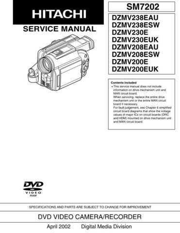 Hitachi DZMV270EUK_IT Service Manual by download Mauritron #261934