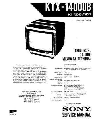 SONY SCC-298B-A CHASSIS VDT WSM 11323 Technical Info by download #104838