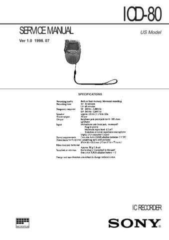SONY ICF-C793 Technical by download #104996