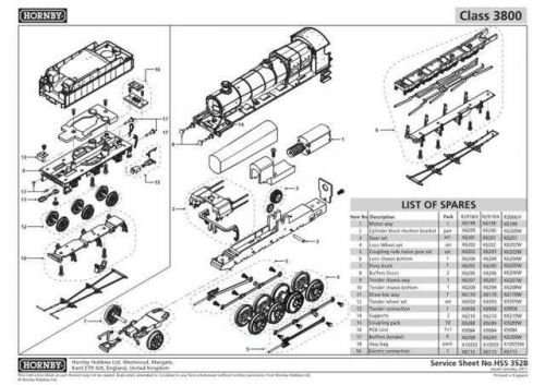 Hornby No.352B Class 3800 Service Sheets by download Mauritron #207141