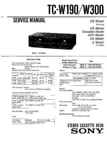 Sony TC-KE200-KE300-KE400S-RX300 Service Information by download Mauritron #238