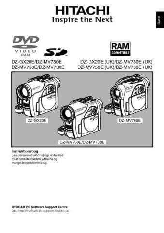Hitachi DZ-MV730E(UK) DA Manual by download Mauritron #225023