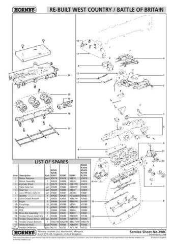 Hornby No.298C Re-Built West Country Battle Of Britain Service Sheets by downlo