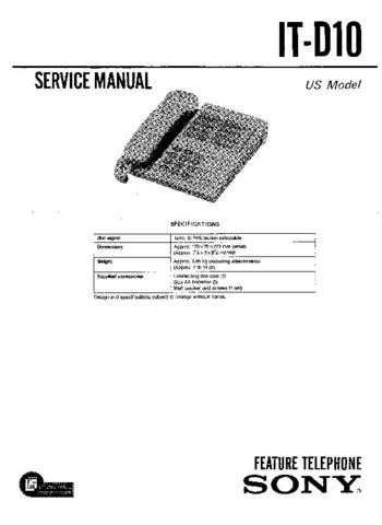 Sony IT-ID510 Manual by download Mauritron #229313