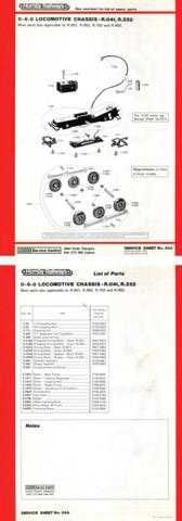 Hornby No.084A 0-6-0 Loco Service Sheets by download Mauritron #206792