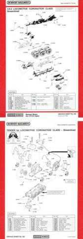 Hornby No.162 4-6-2 Coronation Class Service Sheets by download Mauritron #2068